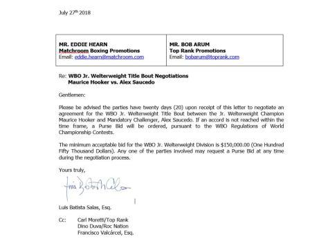 WBO Letter